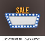 retro realistic 3d light sale... | Shutterstock . vector #719985904