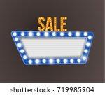 retro realistic 3d light sale... | Shutterstock . vector #719985904