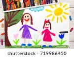 photo of colorful drawing ... | Shutterstock . vector #719986450
