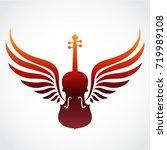 color winged violin symbol | Shutterstock .eps vector #719989108