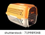 Small photo of Pet carrier or Portable animal cages is transported or transported to various places.