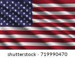 waving flag of united states on ... | Shutterstock .eps vector #719990470