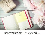 peonies flowers close up with...   Shutterstock . vector #719992030