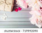 peonies flowers close up with...   Shutterstock . vector #719992090