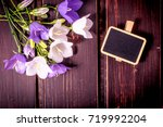 spring flowers with sale...   Shutterstock . vector #719992204
