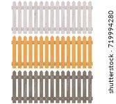 vector wooden picket fence   Shutterstock .eps vector #719994280