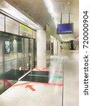 scenery of underground railways ... | Shutterstock . vector #720000904