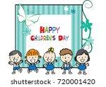 happy children's day | Shutterstock .eps vector #720001420