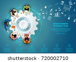 business meeting and... | Shutterstock .eps vector #720002710