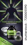 mass gainer ads. vector...   Shutterstock .eps vector #720005590