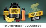 energy drink ads. vector... | Shutterstock .eps vector #720005599