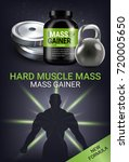 mass gainer ads. vector... | Shutterstock .eps vector #720005650