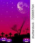 holiday poster for halloween...   Shutterstock . vector #720005764