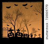 holiday poster for halloween... | Shutterstock . vector #720005770