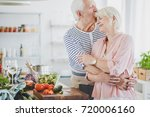 grandpa hugs and kisses smiling ... | Shutterstock . vector #720006160