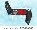 black friday curved satin... | Shutterstock .eps vector #720016048