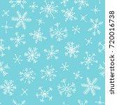 hand drawn seamless pattern.... | Shutterstock .eps vector #720016738