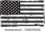 grunge usa flag.vintage... | Shutterstock .eps vector #720019030