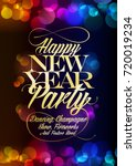 happy new year party poster... | Shutterstock .eps vector #720019234