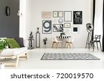 bright spacious dining room... | Shutterstock . vector #720019570