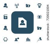 set of 13 editable global icons....