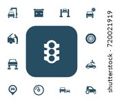 set of 13 editable car icons....