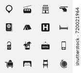 set of 16 editable holiday... | Shutterstock .eps vector #720021964