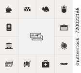 set of 13 editable travel icons....