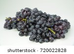 black grapes with drop of water ... | Shutterstock . vector #720022828