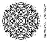 decorative round ornament. anti ... | Shutterstock .eps vector #720023989