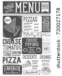 pizza food menu for restaurant... | Shutterstock .eps vector #720027178