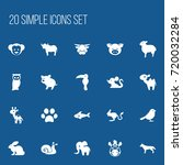 set of 20 editable zoology...