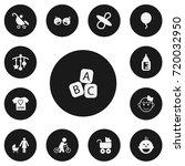 set of 13 editable child icons. ...