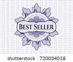 blue rosette or money style... | Shutterstock .eps vector #720034018
