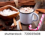 christmas drink. cup of hot... | Shutterstock . vector #720035608