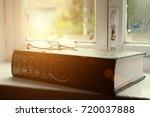 muslim holy book of the koran... | Shutterstock . vector #720037888