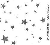 stars pattern. hand drawn... | Shutterstock .eps vector #720046120