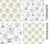 pattern doodle owl vector  | Shutterstock .eps vector #720046639