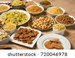 sweet and salty diwali snack... | Shutterstock . vector #720046978
