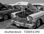 a classic car on display at the ... | Shutterstock . vector #720051190