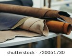 brightly colored leather in... | Shutterstock . vector #720051730