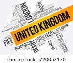 list of cities and towns in the ... | Shutterstock .eps vector #720053170
