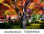 enkouji is autumn a beautiful... | Shutterstock . vector #720054964