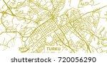 detailed vector map of turku in ... | Shutterstock .eps vector #720056290