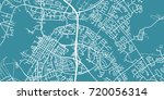 Detailed vector map of Oulu, scale 1:30 000, Finland