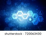 2d illustration medical... | Shutterstock . vector #720063430