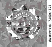 summer time grey camo emblem | Shutterstock .eps vector #720064528