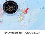 concept travel new zealand on... | Shutterstock . vector #720065134
