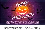happy halloween typographical... | Shutterstock .eps vector #720067849
