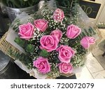 pink rose bouquet bunch at... | Shutterstock . vector #720072079